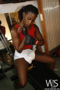 Tiesha Pumps Iron in a Diaper
